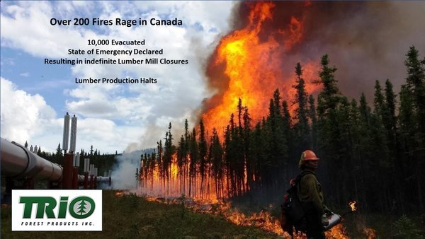200 Forest Fires Rage in Canada