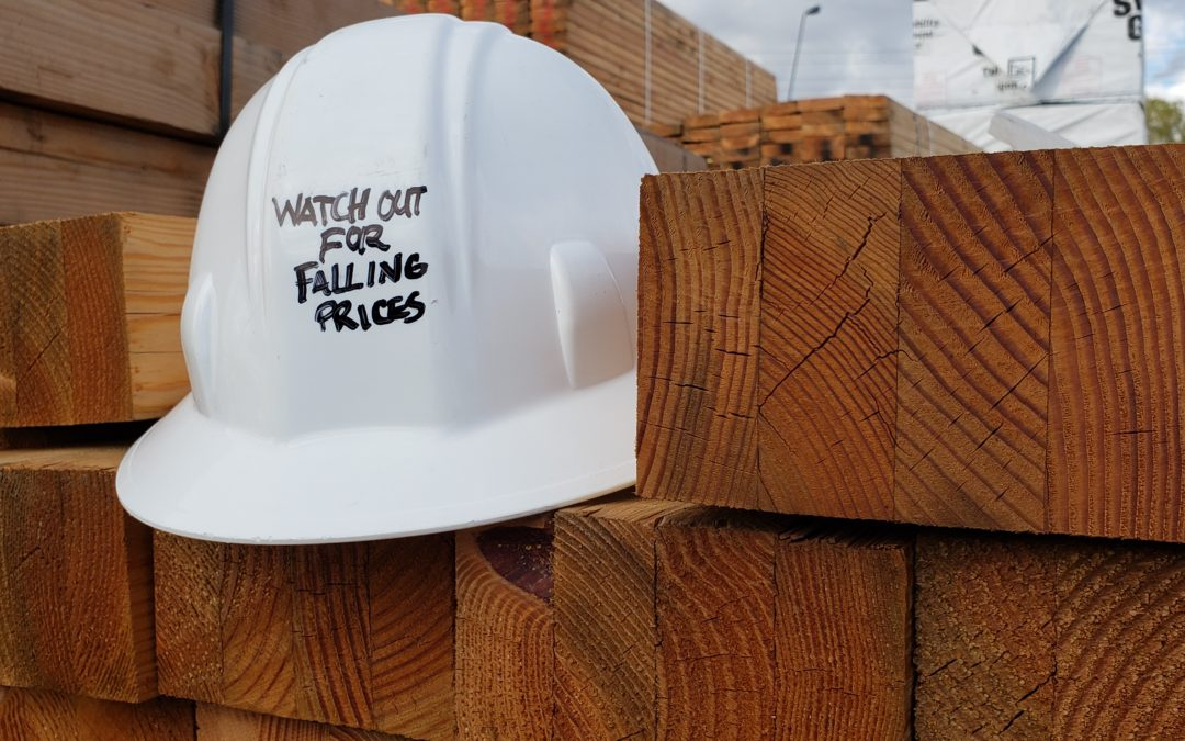Hard Hat Warning:  Watch for falling lumber prices